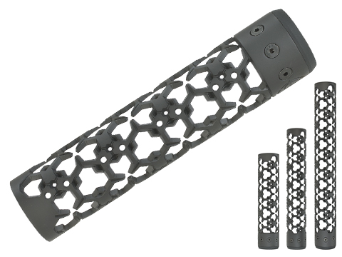 Unique ARs CNC Machined Hex Hazard Handguard for AR15 Pattern Rifles