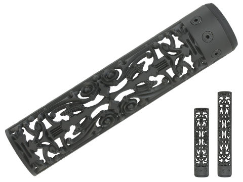 Unique ARs CNC Machined Filigree Handguard for AR15  Pattern Rifle