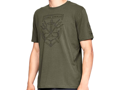 Under Armour Men's UA Tactical Division T-Shirt (Color: Marine OD Green / Small)