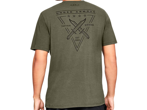 Under Armour Men's UA Freedom Tactical T-Shirt (Color: Marine OD Green / Small)