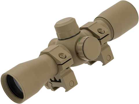UFC HD25 1X22mm Red & Green Dot Sight with Scope Rings (Color: Tan)