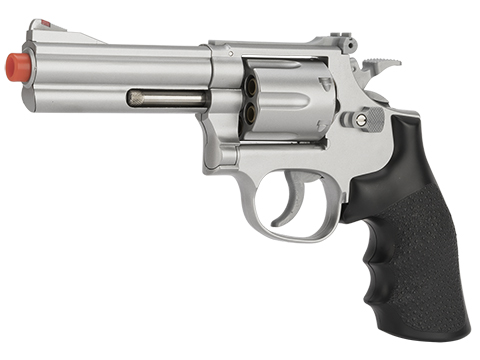 UHC 686  Heavy Weight Spring Powered Airsoft Revolvers (Length: 4 / Silver with Black Grips)