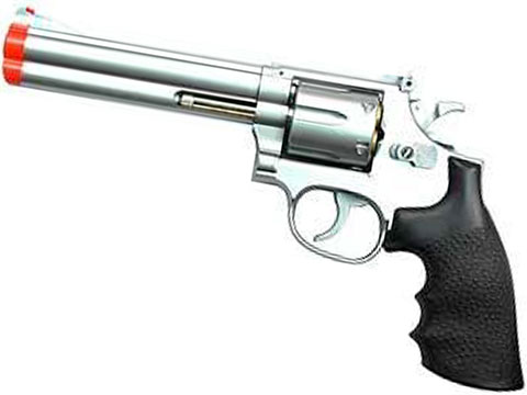 UHC 686  Heavy Weight Spring Powered Airsoft Revolvers (Length: 6 / Silver with Black Grips)