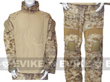E Tactical Battle Uniform Set w/ Integrated Knee Elbow Pad (Digital Desert Marpat) - 2XL