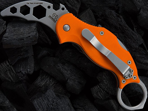 Mandiola Defense Cold Dead Hands Karambit CDHK Knife Trainer with Orange G10 Grips