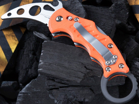 Fox Knives Karambit 599-XTTk Training Knife - Orange G10