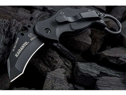 Mandiola Defense Karanto Karambit Tanto Knife with VEX 1/4 Drive Set & G10 Handle (Color: Black Oxide)