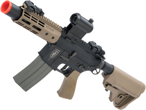 Elite Force Competition M4 Airsoft AEG Rifle w/ M-LOK Rail (Model: CQC / Black & Tan)