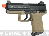 Bone Yard - H&K Full Metal USP Compact Tactical Gas Blowback Airsoft Pistol by Umarex / KWA  (Store Display, Non-Working Or Refurbished Models)