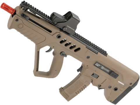 IWI Tavor CTAR Flat Top Short Barreled Airsoft AEG with Inline MOSFET FCU (Color: Dark Earth)