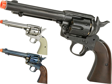 Gun Heaven CO2 Powered 1873 Single Action Airsoft Revolver (Color: High Polish Silver)