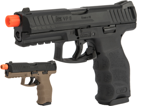 UMAREX / H&K Licensed VP9 Striker Fired Full Size Airsoft GBB Pistol (Color: Black)