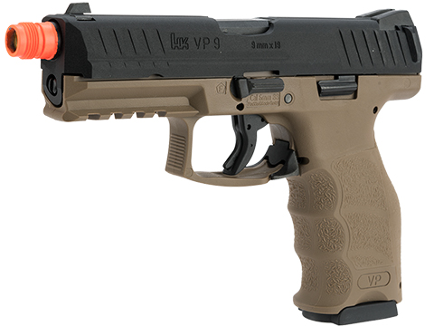 UMAREX / H&K Licensed VP9 Striker Fired Full Size Airsoft GBB Pistol (Color: Black / Flat Dark Earth)
