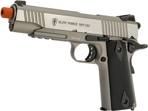Elite Force Full Metal Gen 3 1911 Tactical CO2 Airsoft Gas Blowback Pistol (Color: Stainless)