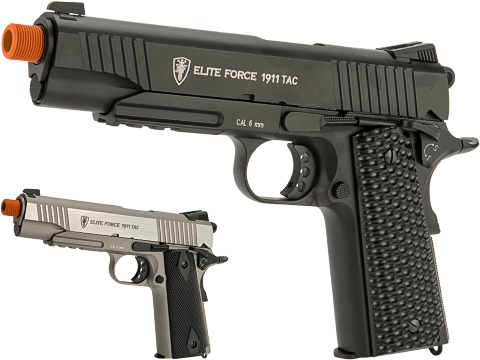 Elite Force Full Metal Gen 3 1911 Tactical CO2 Airsoft Gas Blowback Pistol (Color: Black)
