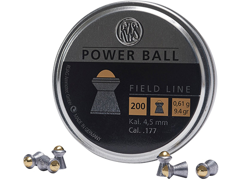 RWS Power Ball .177 Caliber Pellets (Quantity: 200 Rounds)