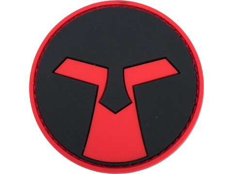 Amoeba PVC Patch (Color: Red & Black)