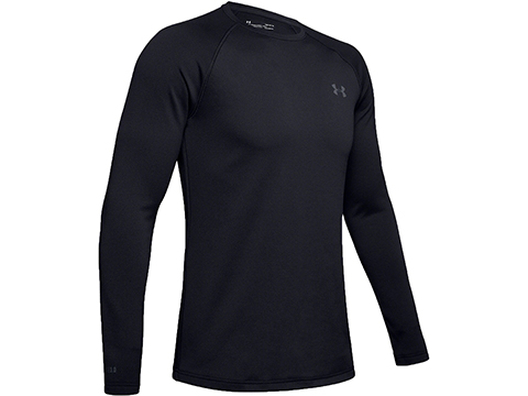 Under Armour UA Base™ 4.0 Crew Long Sleeve Extreme Cold Weather Shirt (Color: Black / Small)