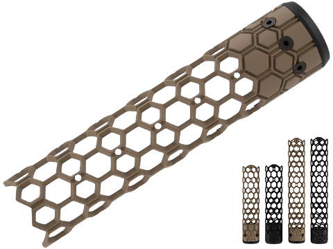Unique ARs CNC Machined Ultra Light Hex Handguard for AR15  Pattern Rifles