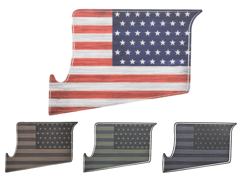 US NightVision Rapid Wraps� Magwell Slaps - US Flag (Color: Stealth Black)