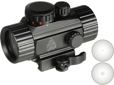 UTG 3.8 ITA Red/Green Dot Sight w/ Integral QD Mount