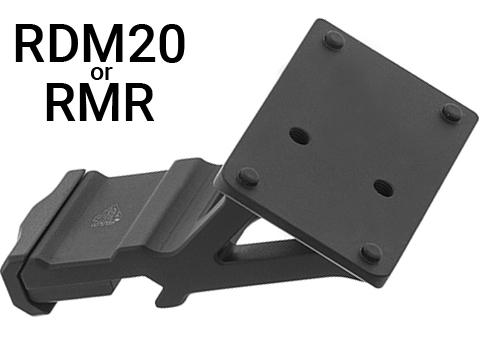 UTG Super Slim 45 Degree Angle Mount (Type: RMR / Black)