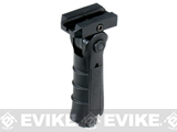 UTG Ergonomic Ambidextrous 5-position Foldable Foregrip - Black