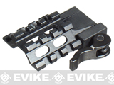 z UTG LE Rated Tri-Rail/3 Slot Angle Mount w/Integral QD Lever Lock System