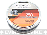 Norica .177 cal Pointed Pellets - 250 Count (FOR AIRGUN USE ONLY)