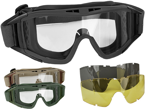 Valken VTAC Tango Tactical Goggles 3-Lens Set (Color: Black)