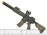 Battle Machine M4 SD Airsoft AEG by Valken - Black / Desert