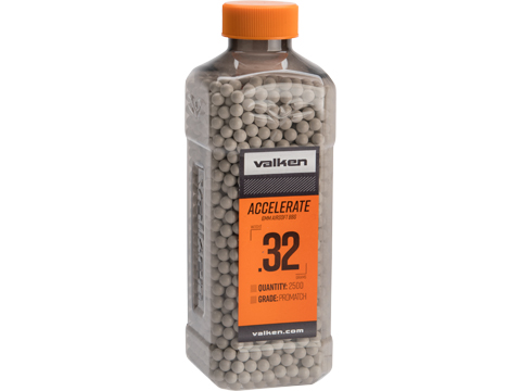 Valken Tactical Precision Accelerate 6mm Airsoft BBs (Weight: .32g / 2500 Rounds / White)