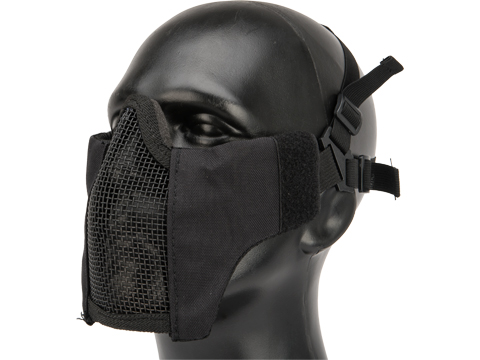 Valken Tango Mesh Half Face Mask (Color: Black)