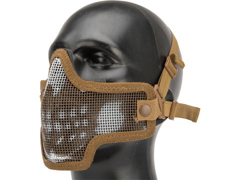 Valken Kilo 2G Mesh Half Face Mask (Color: Tan - Skull)