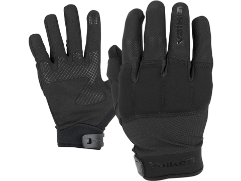 Valken Kilo Tactical Lightweight Padded Gloves (Color: Black / Large)