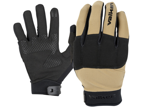 Valken Kilo Tactical Lightweight Padded Gloves (Color: Tan / Large)