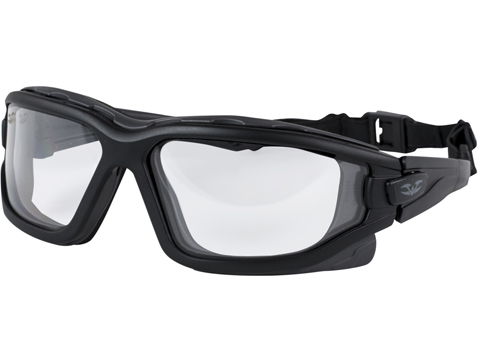 Valken Tactical Zulu Slim Fit Tactical Goggles (Color: Black / Clear Lens)