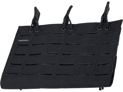 Valken Laser Cut Triple Rifle Magazine Pouch (Color: Black)