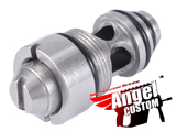 Angel Custom Stainless Steel CNC High Output Valve for Marui WE KJW HFC M9 Airsoft Gas Blowback GBB Series