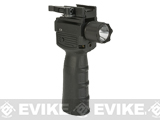 NCStar / VISM QR Vertical Grip w/ Built In CREE LED Flashlight and Laser Gen.II - 200 Lumen