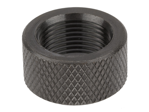 Vaultac CNC Cut Knurled Thread Protector Cap - Black (14mm Negative/Short Length 10mm)