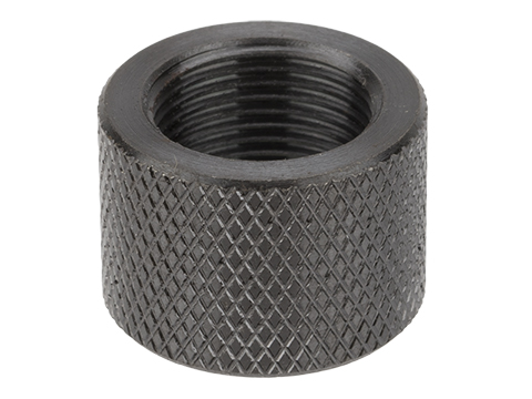 Vaultac CNC Cut Knurled Thread Protector Cap - Black (14mm Negative)