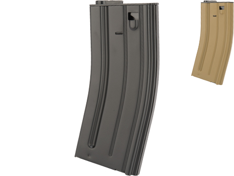 VFC Steel Stamped GI Magazine for SCAR M4 M16 Series Airsoft AEG Rifles (Type: 120rd Mid-Cap / Black)