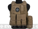 Avengers Military Style MOD-II Quick Release Body Armor Vest (Color: Coyote Brown)