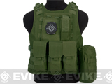 Avengers Military Style MOD-II Quick Release Body Armor Vest (Color: OD Green)