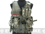 Matrix Special Force Cross Draw Tactical Vest w/ Built In Holster & Mag Pouches (Color: ACU)
