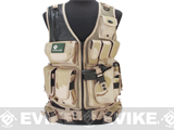 Matrix Special Force Cross Draw Tactical Vest w/ Built In Holster & Mag Pouches (Color: Desert)