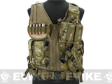 Matrix Special Force Cross Draw Tactical Vest w/ Built In Holster & Mag Pouches (Color: Camo)