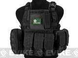 Matrix Medium Assault Plate Carrier Vest w/ Cummerbund & Pouches (Color: Black)