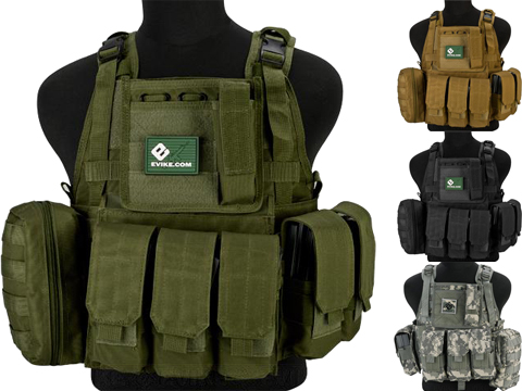 Matrix Medium Assault Plate Carrier Vest w/ Cummerbund & Pouches (Color: OD Green)